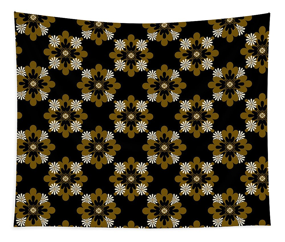 Floral Pattern Tapestry featuring the mixed media Floral Pattern by Christina Rollo