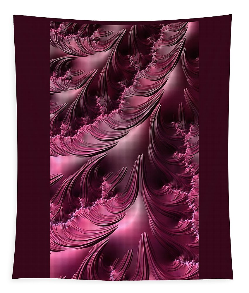 fractal Art Flourishes phone Case digital Art abstract Art Abstract Purple abstract Photography Iphoneography Tapestry featuring the photograph Flourishes - Phone Cases And Cards by Bill Owen