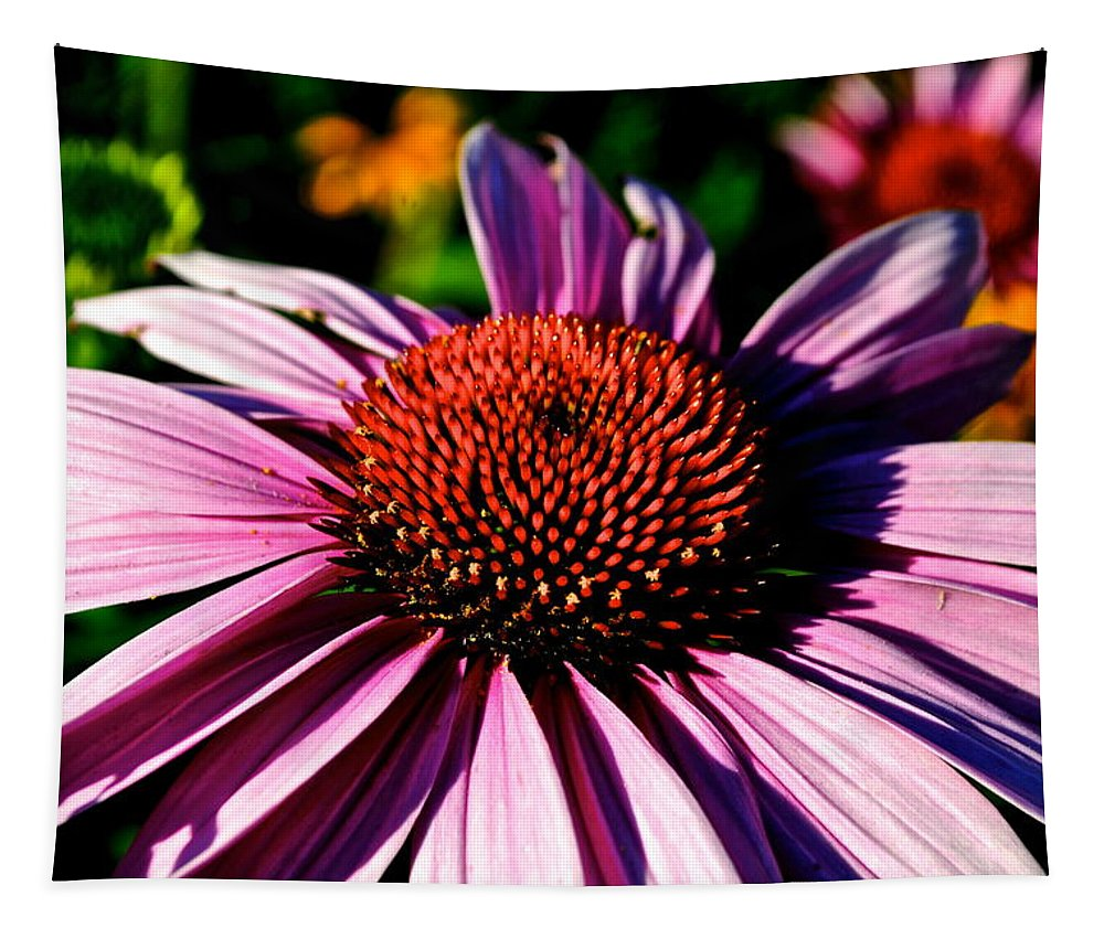 Flower Tapestry featuring the photograph Flower Bed Close Up by Frozen in Time Fine Art Photography