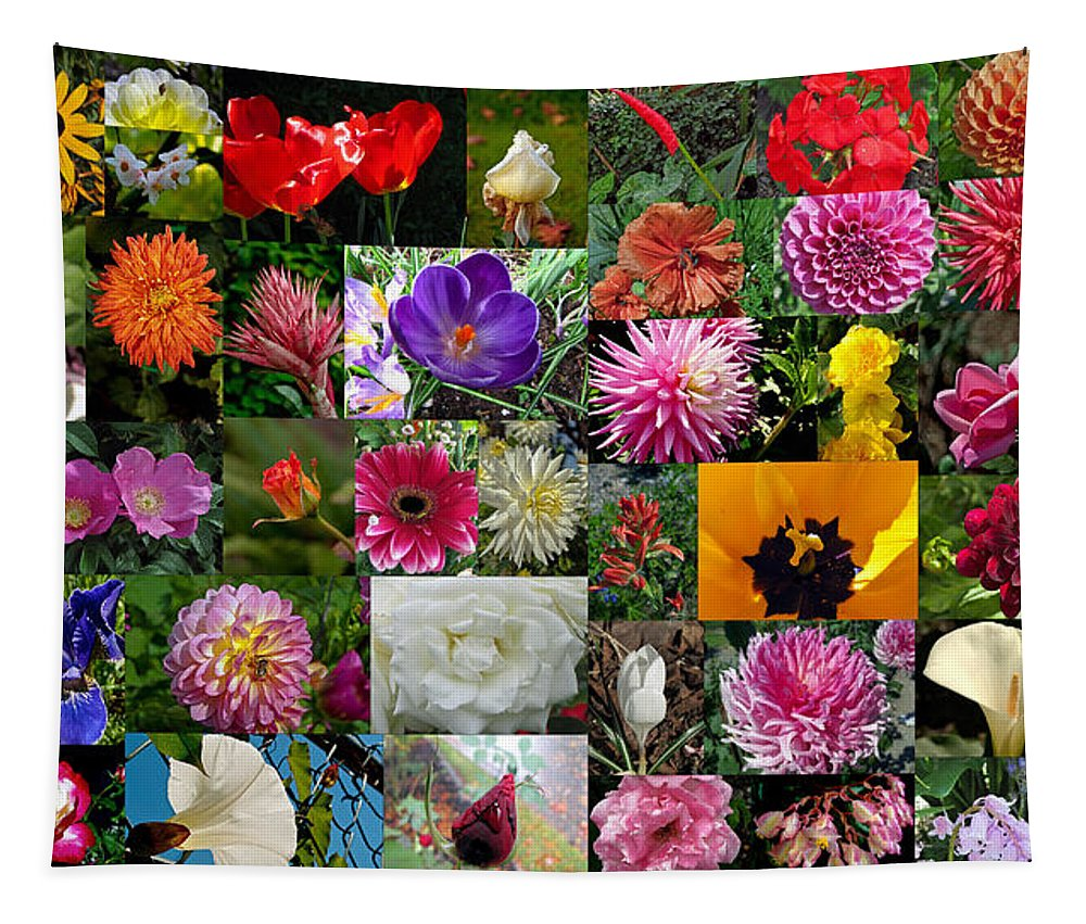 Flower Tapestry featuring the photograph Flower Garden Bouquet by Tikvah's Hope
