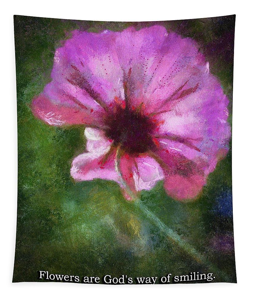 Flower Tapestry featuring the photograph Flowers Are Gods Way 02 by Thomas Woolworth