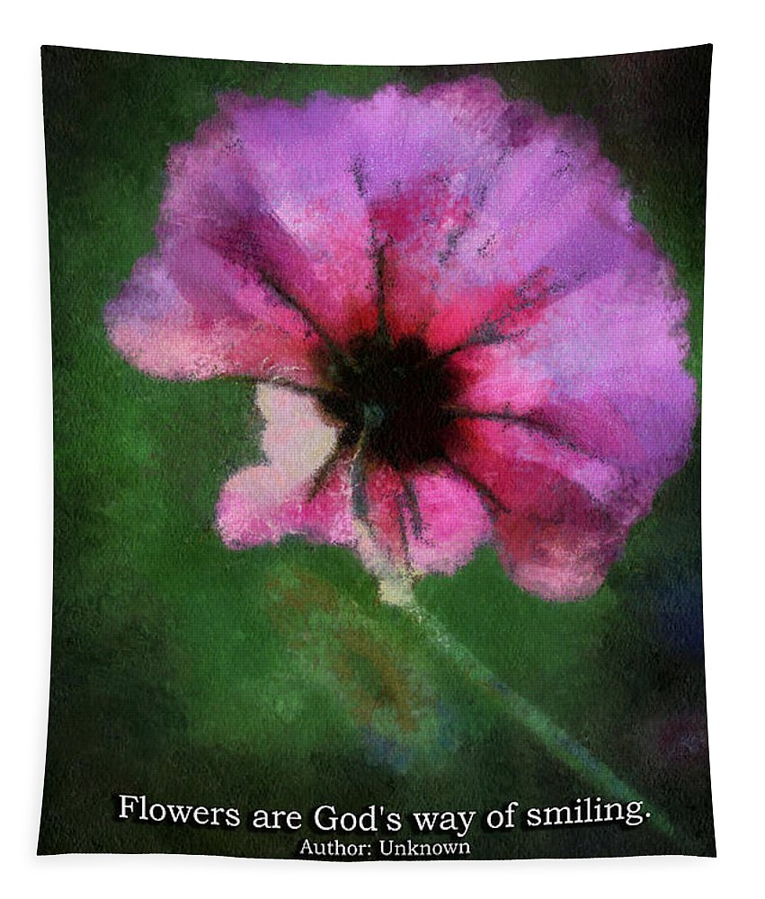 Flower Tapestry featuring the photograph Flowers Are Gods Way 03 by Thomas Woolworth