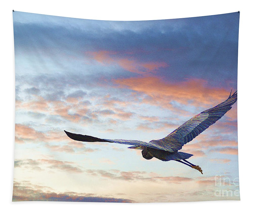 Big Tapestry featuring the photograph Flying High by John Kolenberg