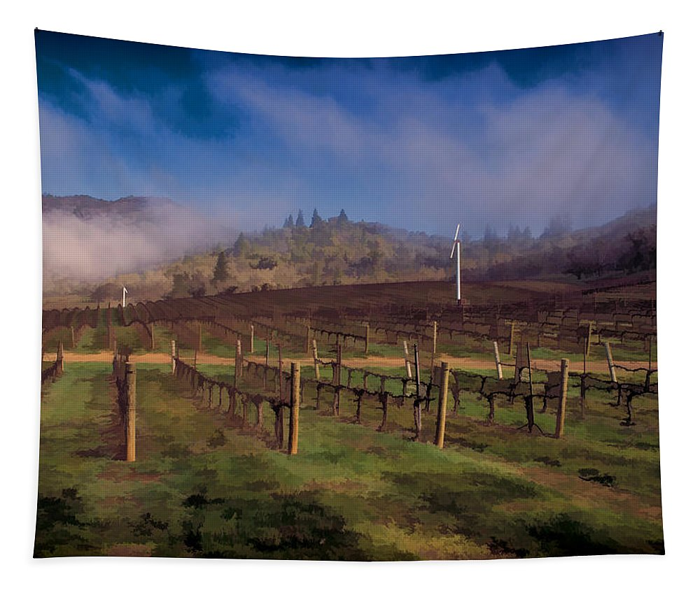 Digital Painting Tapestry featuring the photograph Fog Over Del Rio by Mick Anderson