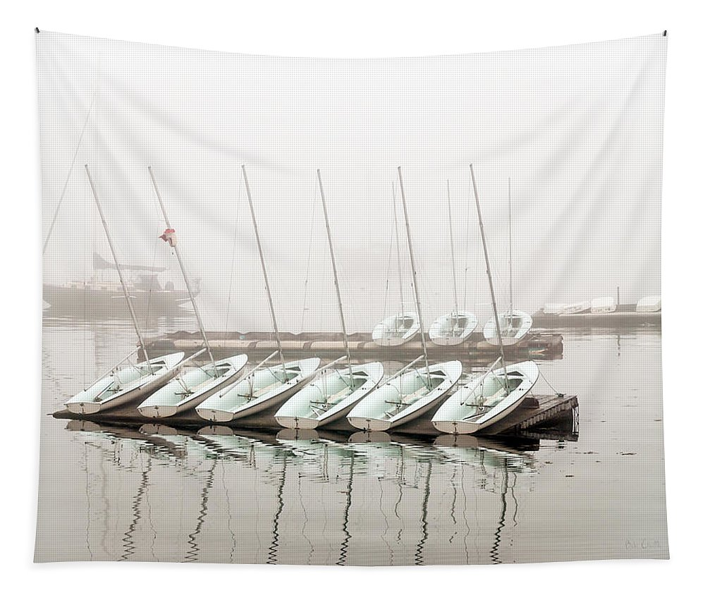 Boat Tapestry featuring the photograph Fogged In by Bob Orsillo