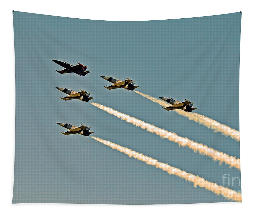 Tico Warbird Airshow Tapestry featuring the photograph Follow The Leader by Davids Digits