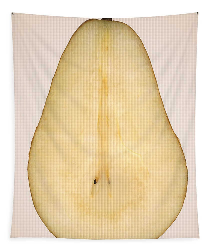 Chef Tapestry featuring the photograph Food - Fruit - A Slice Of Bosc Pear by Mike Savad