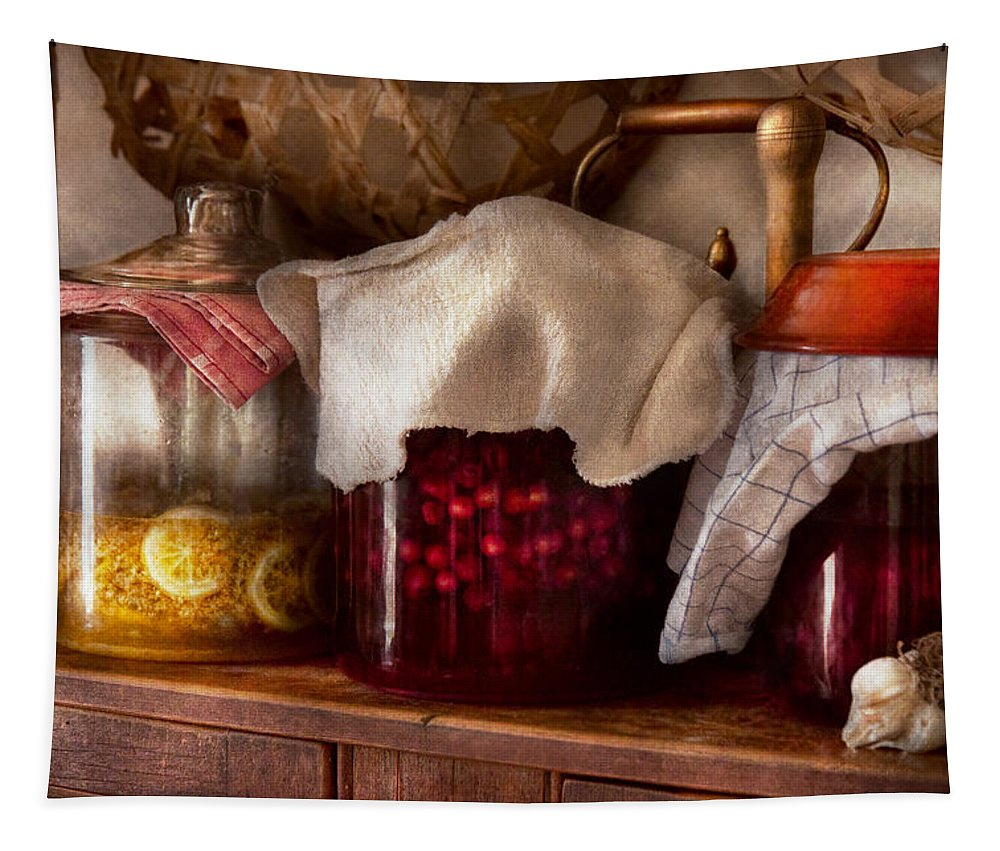 Kitchen Tapestry featuring the photograph Food - Fruit - Things You Make At Summertime by Mike Savad
