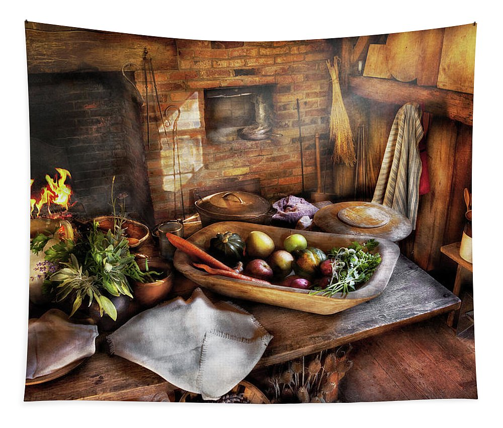 Savad Tapestry featuring the photograph Food - The Start Of A Healthy Meal by Mike Savad
