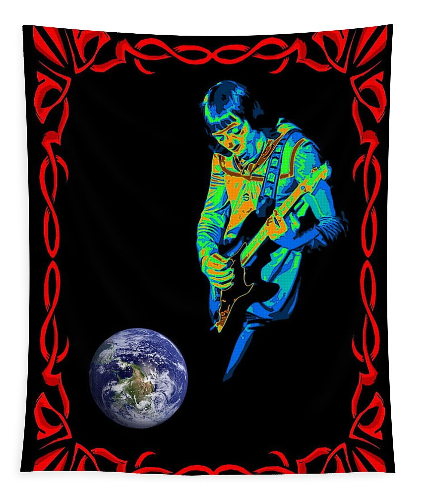 Robin Trower Tapestry featuring the photograph For Earth Below #2 by Ben Upham