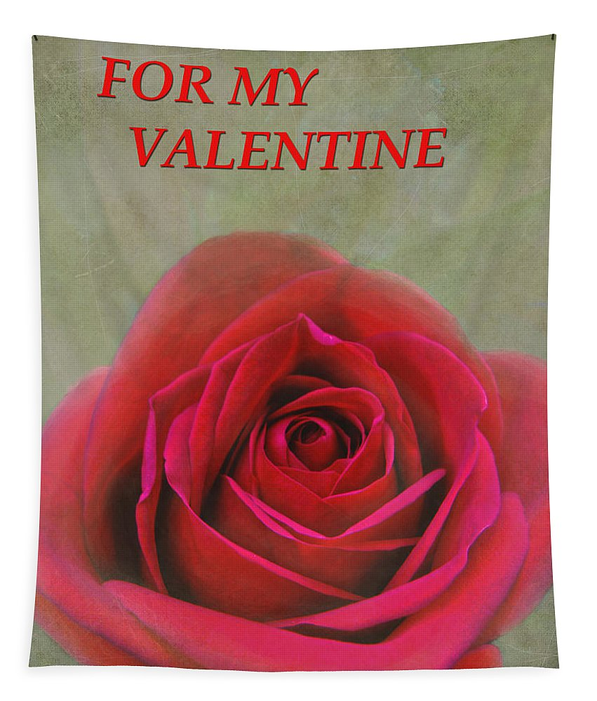 Valentine Tapestry featuring the photograph For My Valentine by Sandi OReilly