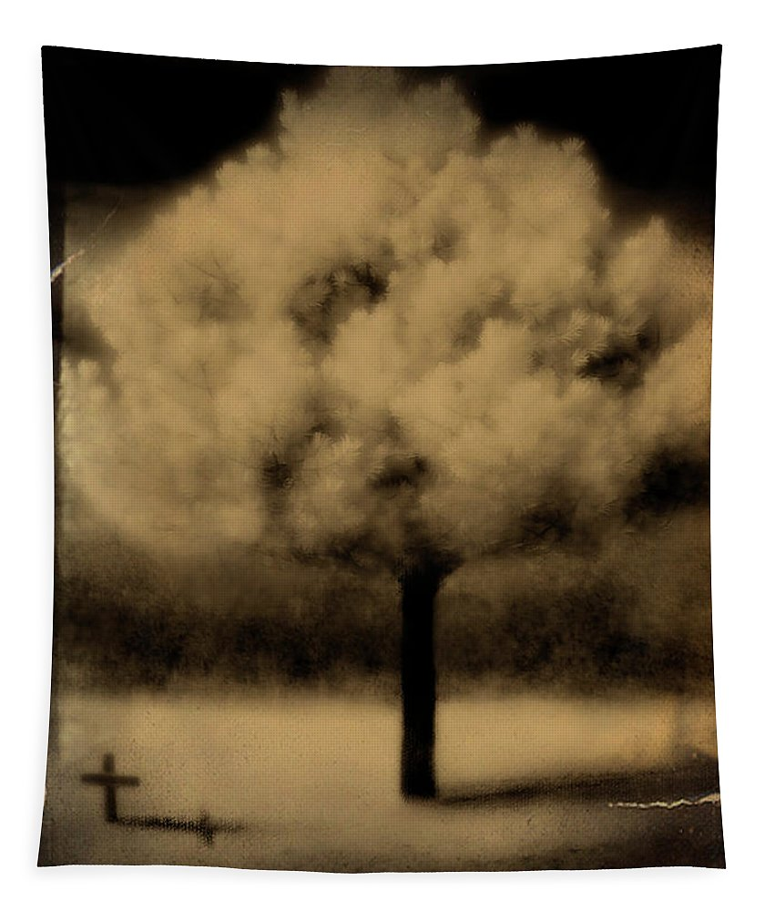 Infrared Tapestry featuring the photograph Forbidding Shadows by Gothicrow Images