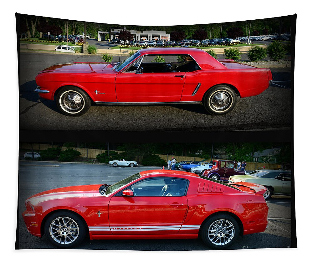 Paul Ward Tapestry featuring the photograph Ford Mustang Old Or New by Paul Ward