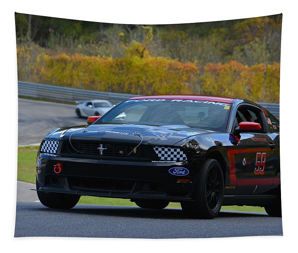 Ford Tapestry featuring the photograph Ford Racing 59 Boss 302 Mustang by Mike Martin