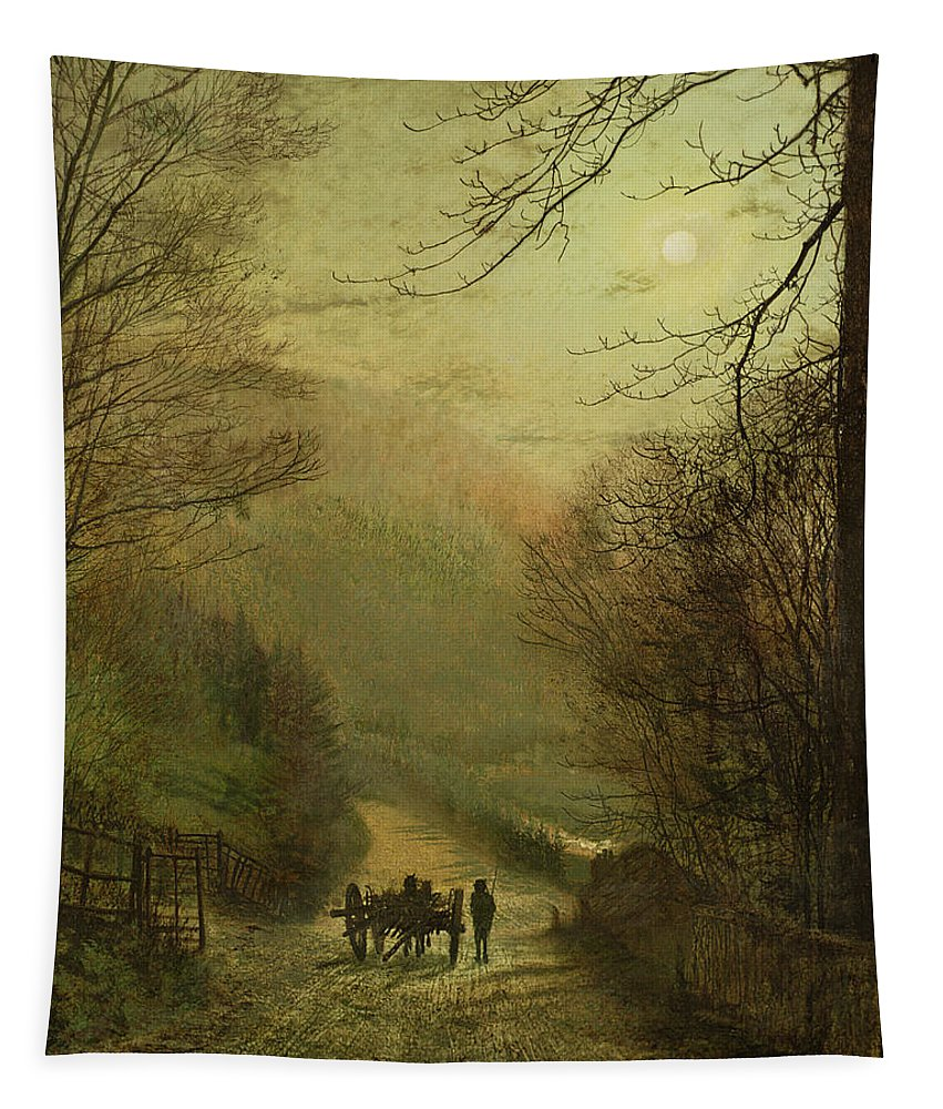 Grimshaw Tapestry featuring the painting Forge Valley, Scarborough by John Atkinson Grimshaw