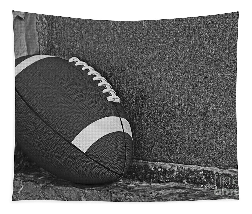 Competition Tapestry featuring the photograph Forgotten Football by Dawn Gari