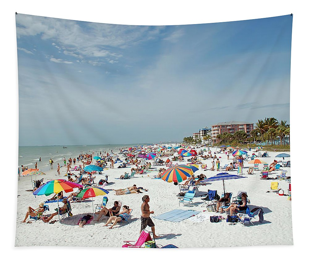 Fort Myers Tapestry featuring the photograph Fort Myers Beach by Aimee L Maher ALM GALLERY