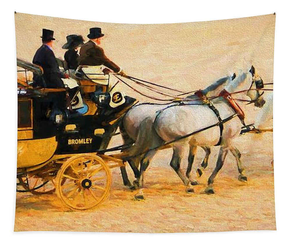 Gray Horses Tapestry featuring the photograph Four Grays by Alice Gipson