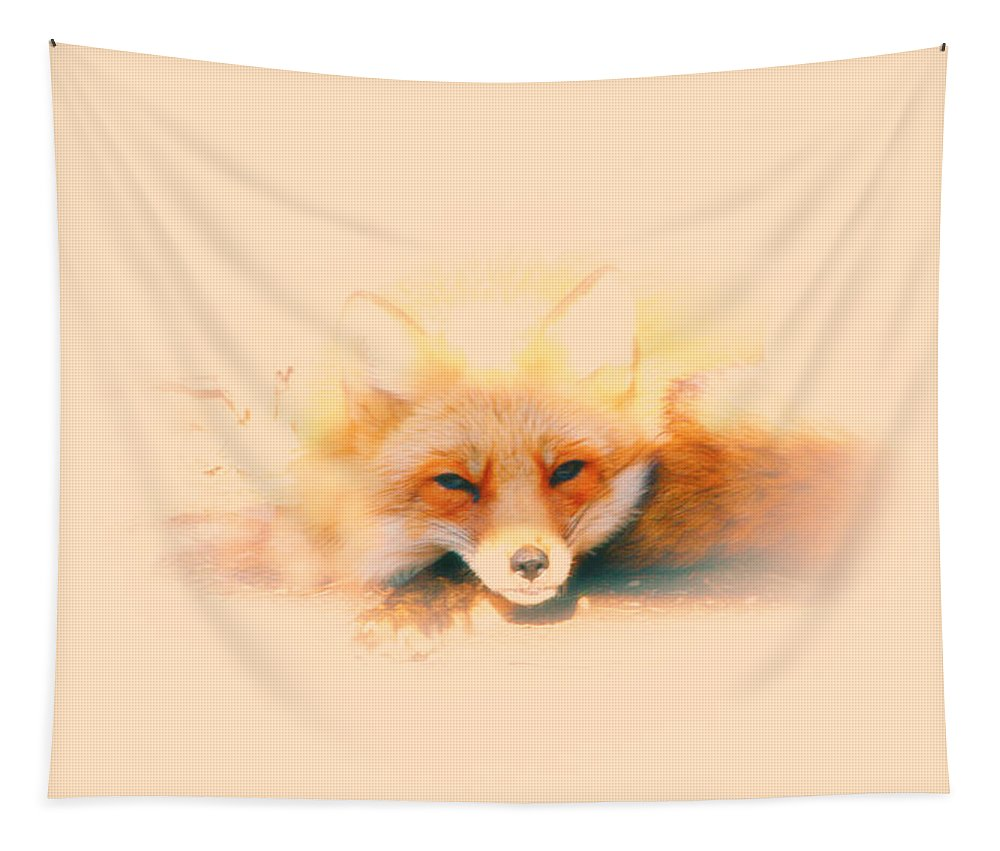 Red Fox Tapestry featuring the photograph Foxy by Karol Livote