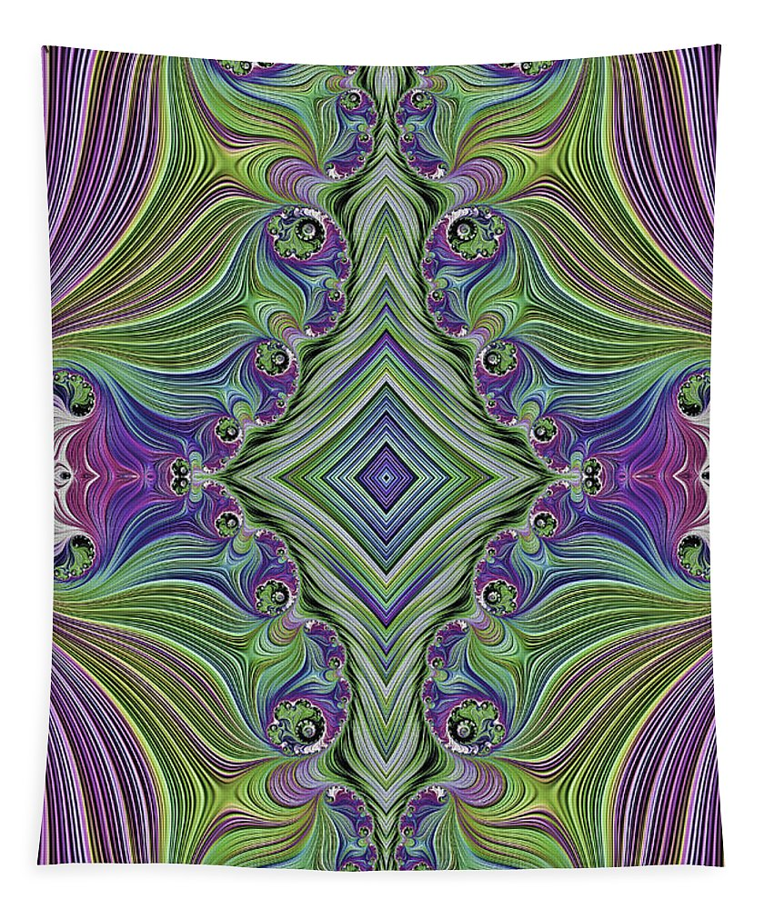 Fractal Tapestry featuring the photograph Fractal Cross by Steve Purnell