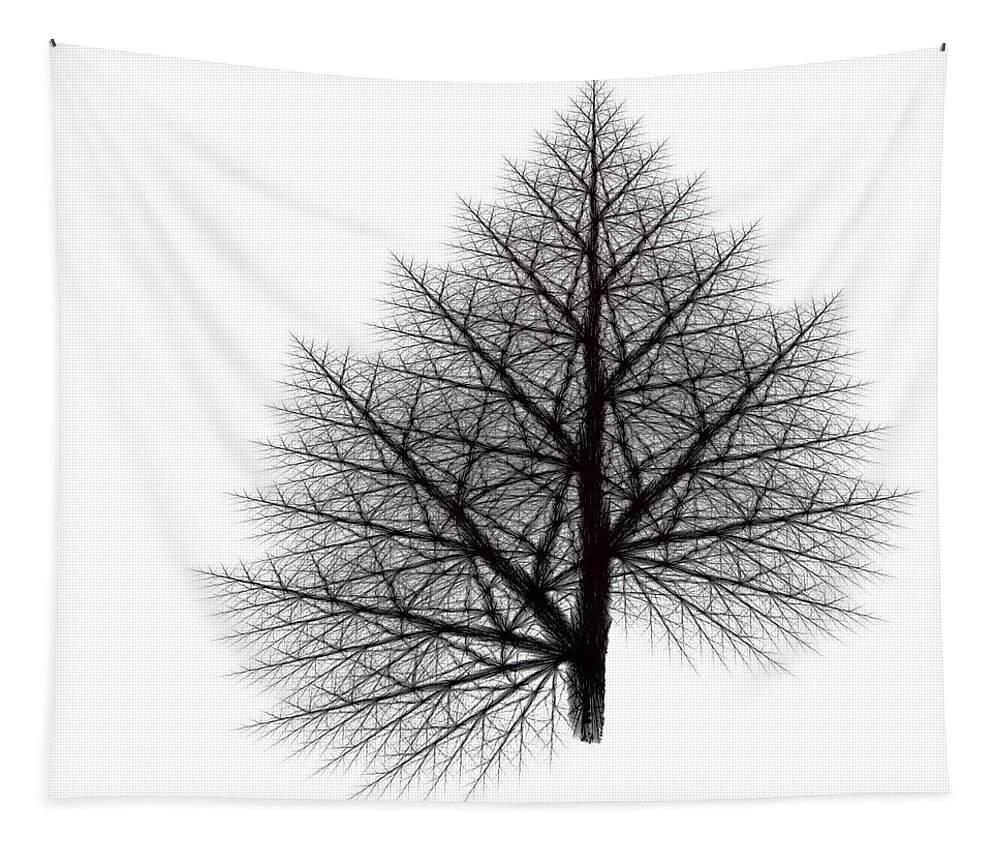 Fractal Tapestry featuring the digital art Fractal Essence Of A Tree by Richard Ortolano