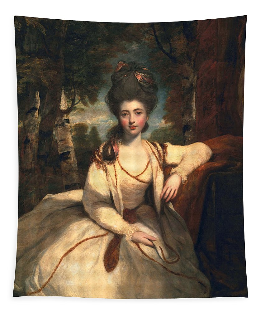Female Tapestry featuring the painting Frances Molesworth, Later Marchioness by Sir Joshua Reynolds