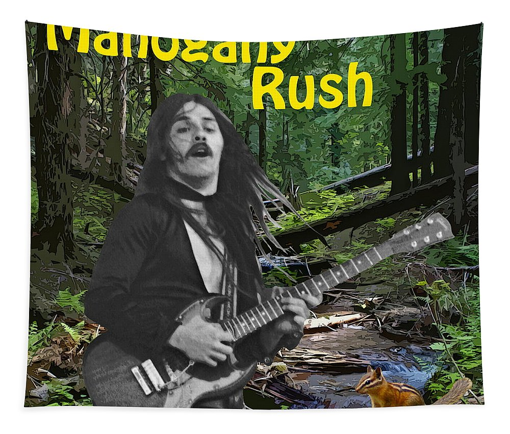 Frank Marino Tapestry featuring the photograph Frank In The Woods 2 by Ben Upham