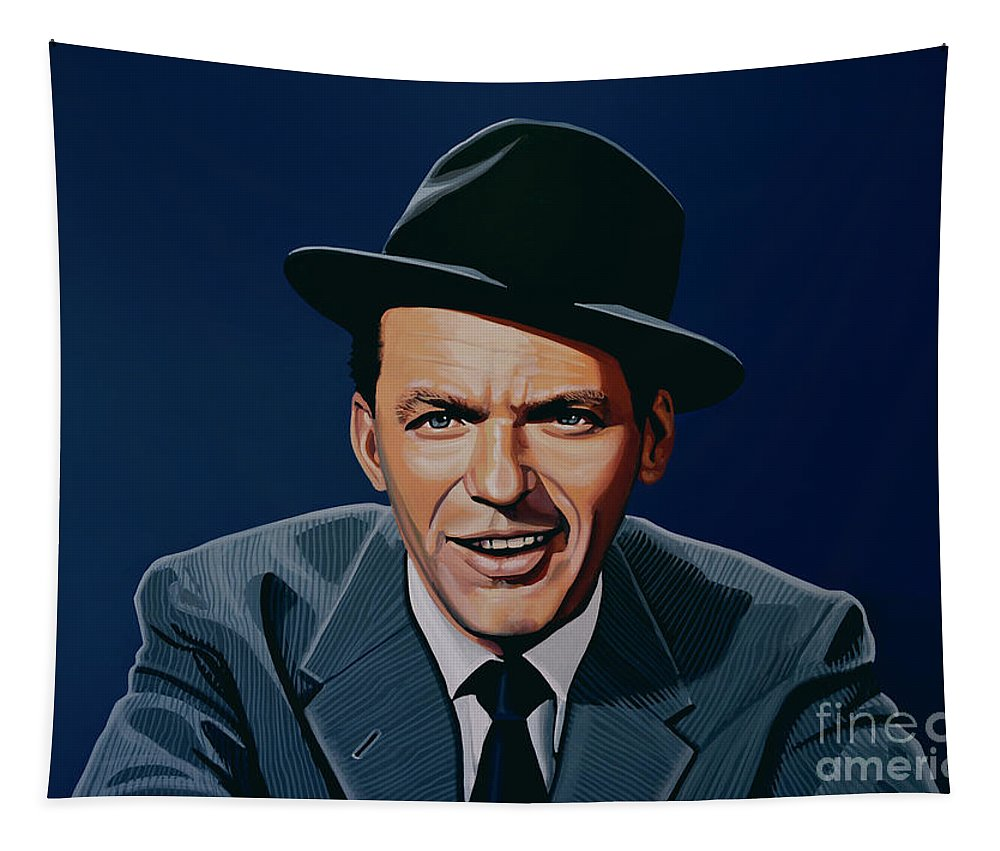 Frank Sinatra Tapestry featuring the painting Frank Sinatra by Paul Meijering