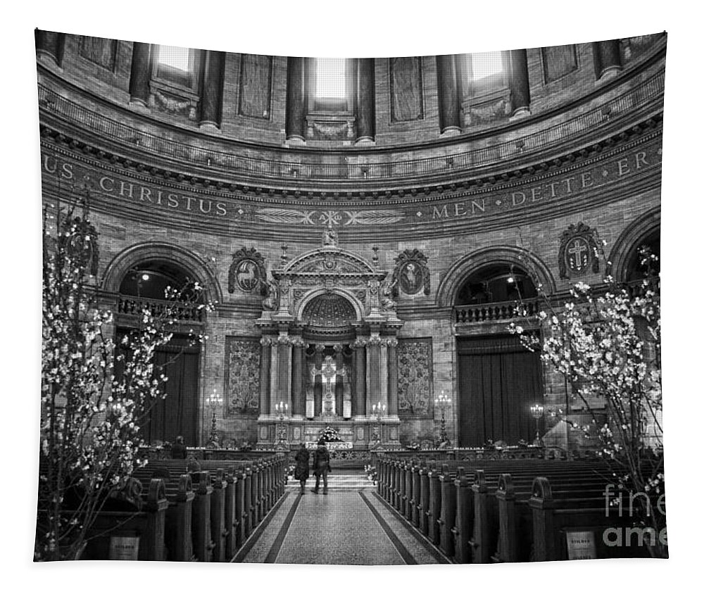Interior Tapestry featuring the photograph Frederik's Church Interior by RicardMN Photography