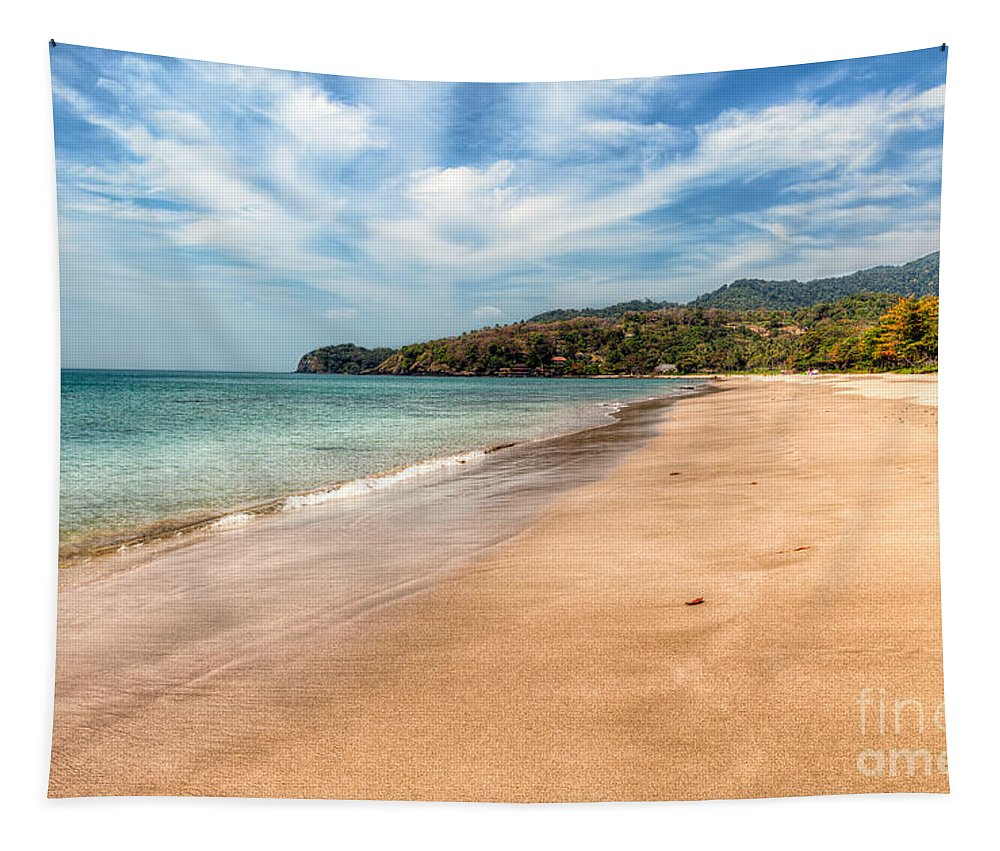 Beach Tapestry featuring the photograph Free Beach by Adrian Evans