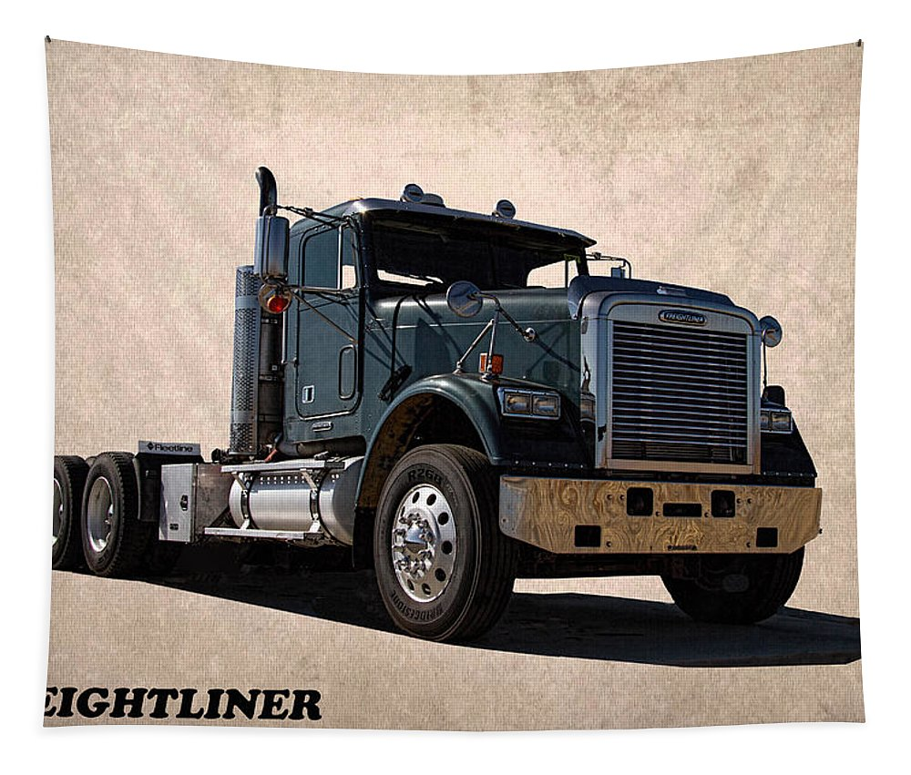 Freightliner Tapestry featuring the photograph Freightliner by Nick Gray
