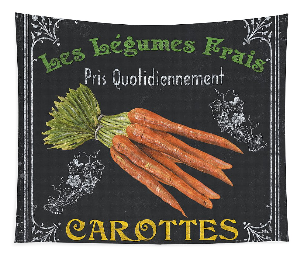 Produce Tapestry featuring the painting French Vegetables 4 by Debbie DeWitt