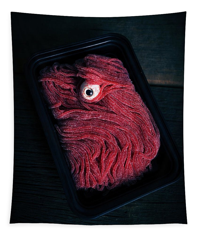 Meat Tapestry featuring the photograph Fresh Ground Zombie Meat - Its What's For Dinner by Edward Fielding