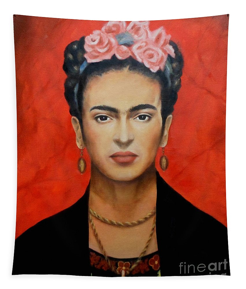 Frida Tapestry featuring the painting Frida Kahlo by Yelena Day