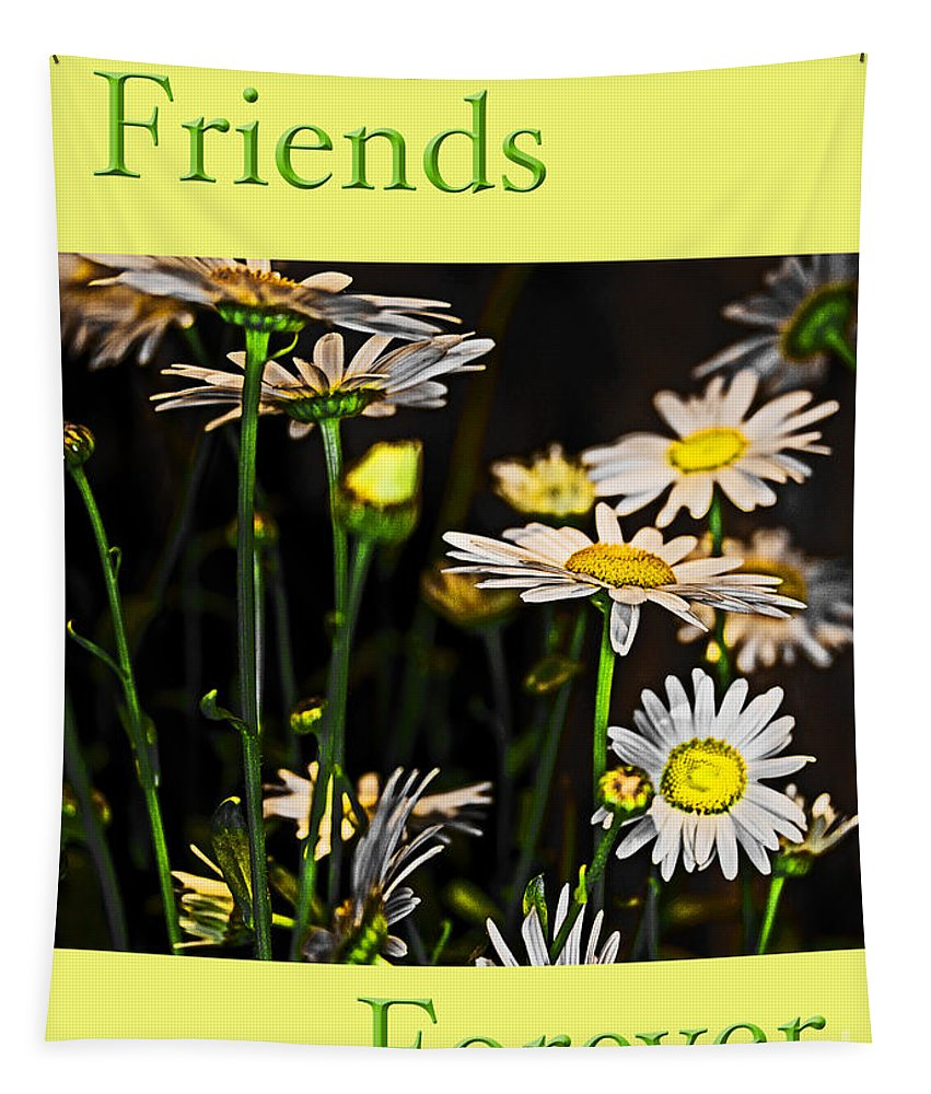 Daisy Tapestry featuring the photograph Friends Forever by Tom Gari Gallery-Three-Photography