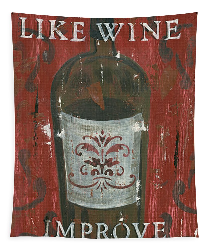 Wine Tapestry featuring the painting Friendships Like Wine by Debbie DeWitt