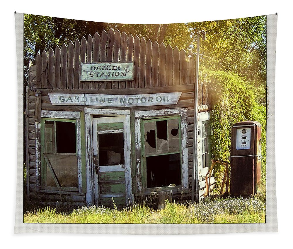Daniel Station Tapestry featuring the photograph Frontier Gas by Dominic Piperata