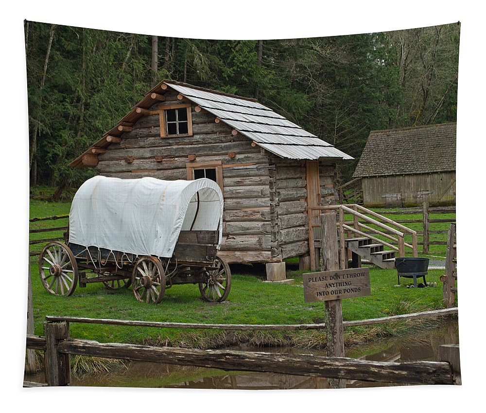 Wilderness Tapestry featuring the photograph Frontier Life by Tikvah's Hope