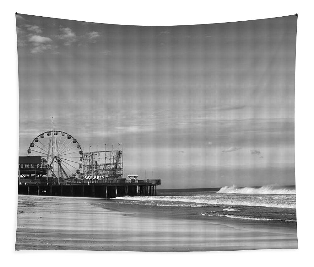 Funtown Pier Seaside Heights Tapestry featuring the photograph Funtown Pier Seaside Heights New Jersey by Terry DeLuco