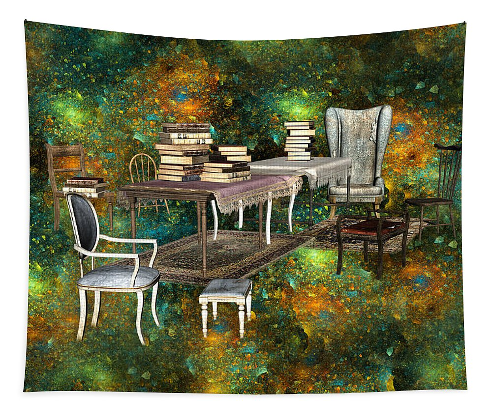 Fantasy Tapestry featuring the digital art Galaxy Booking by Betsy Knapp