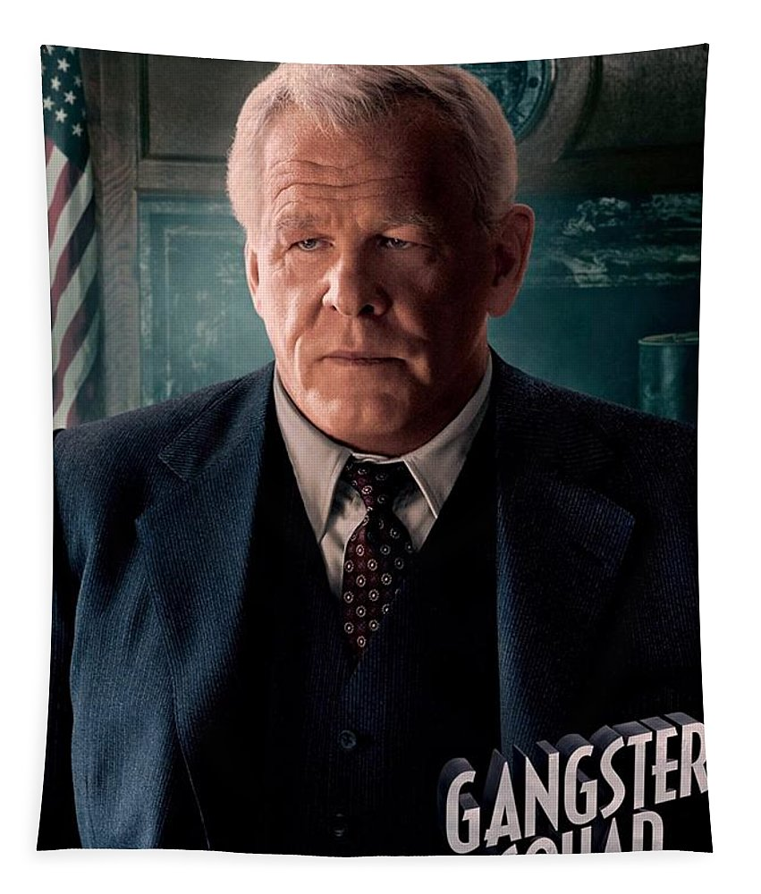 Gangster Squad Tapestry featuring the photograph Gangster Squad Nolte by Movie Poster Prints