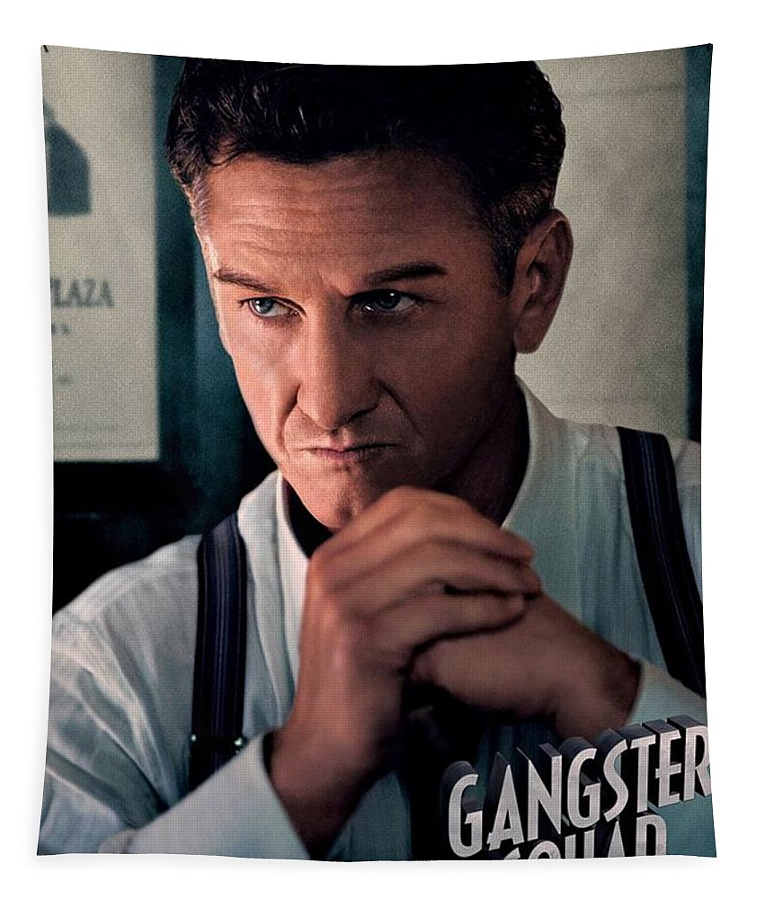 Gangster Squad Tapestry featuring the photograph Gangster Squad Penn by Movie Poster Prints