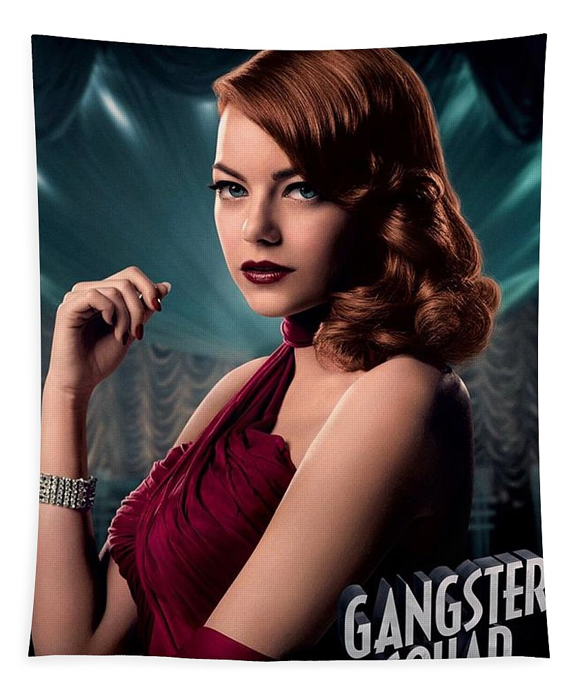 Gangster Squad Tapestry featuring the photograph Gangster Squad Stone by Movie Poster Prints