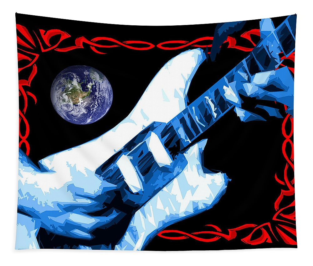 Jerry Garcia Tapestry featuring the photograph Garcia In Space by Ben Upham