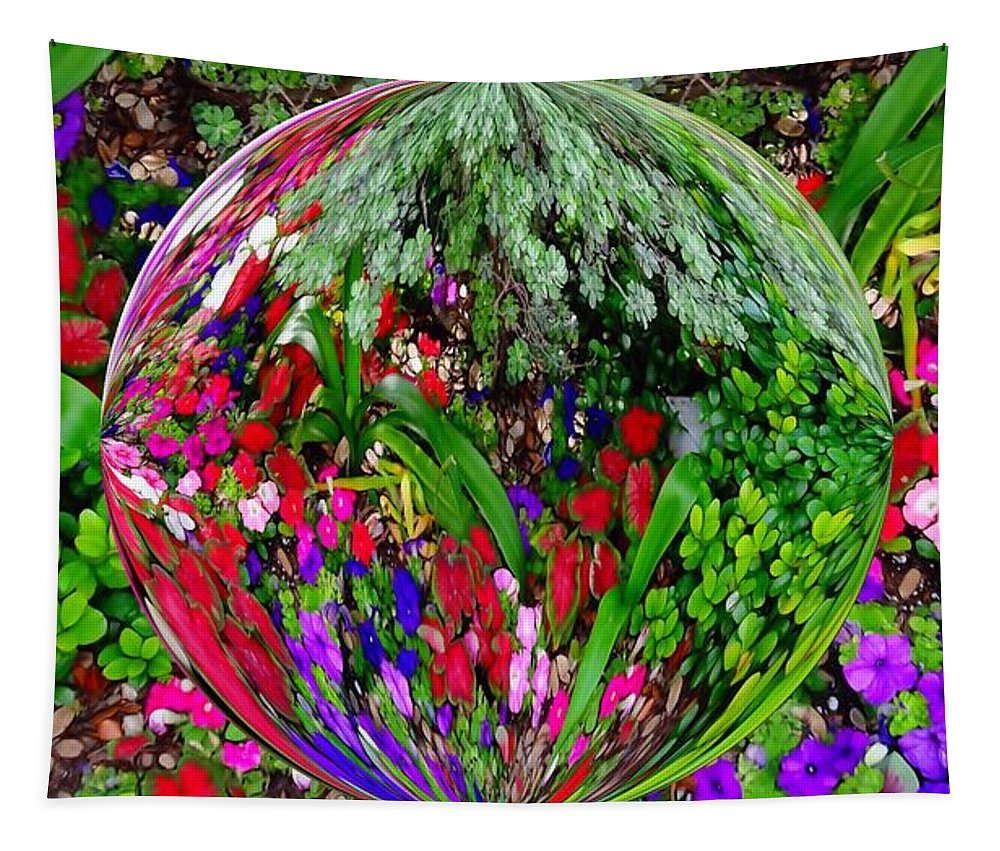 Garden Orb Tapestry featuring the photograph Garden Orb by Dan Sproul