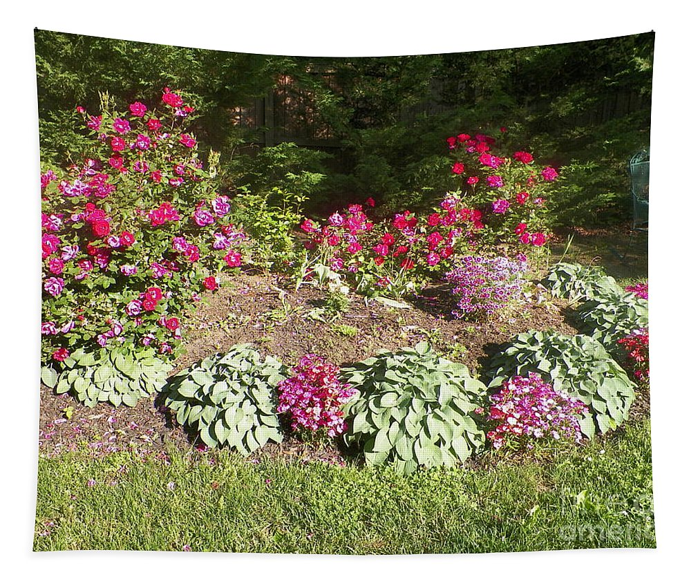 Circular Flower Garden Tapestry featuring the photograph Garden Splender by Elinor Helen Rakowski
