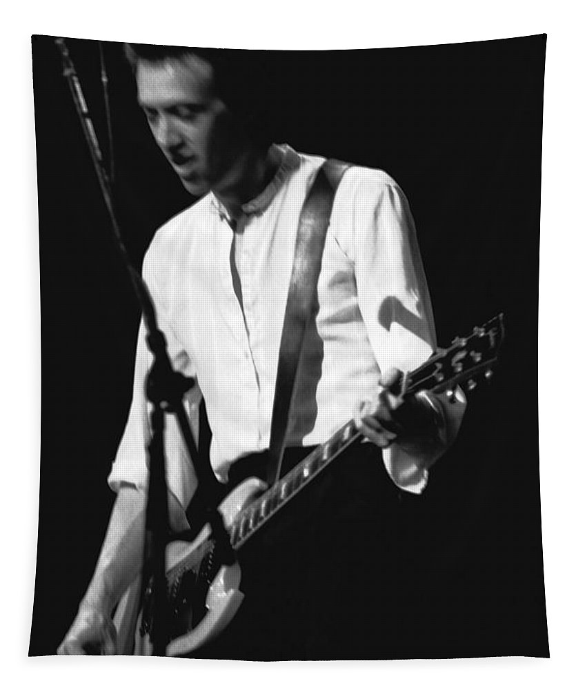 Gary Pihl Tapestry featuring the photograph Gary Pihl On Guitar by Ben Upham