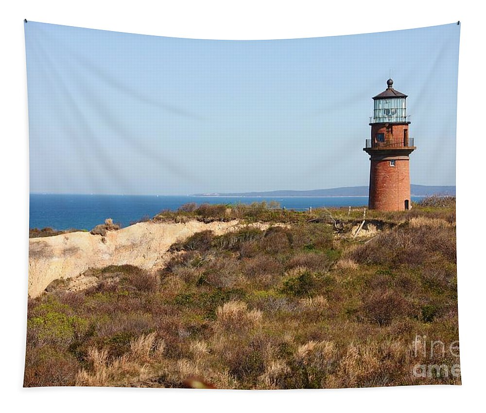 Gay Head Lighthouse Tapestry featuring the photograph Gay Head Lighthouse by Carol Groenen
