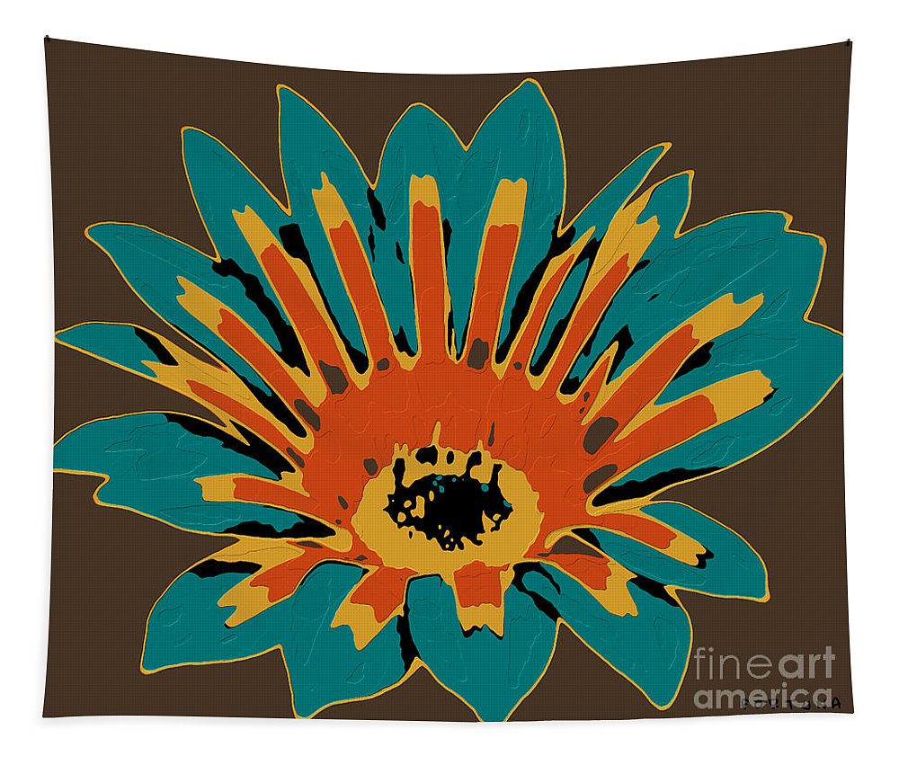 Flower Tapestry featuring the digital art Gazania by Dragica Micki Fortuna