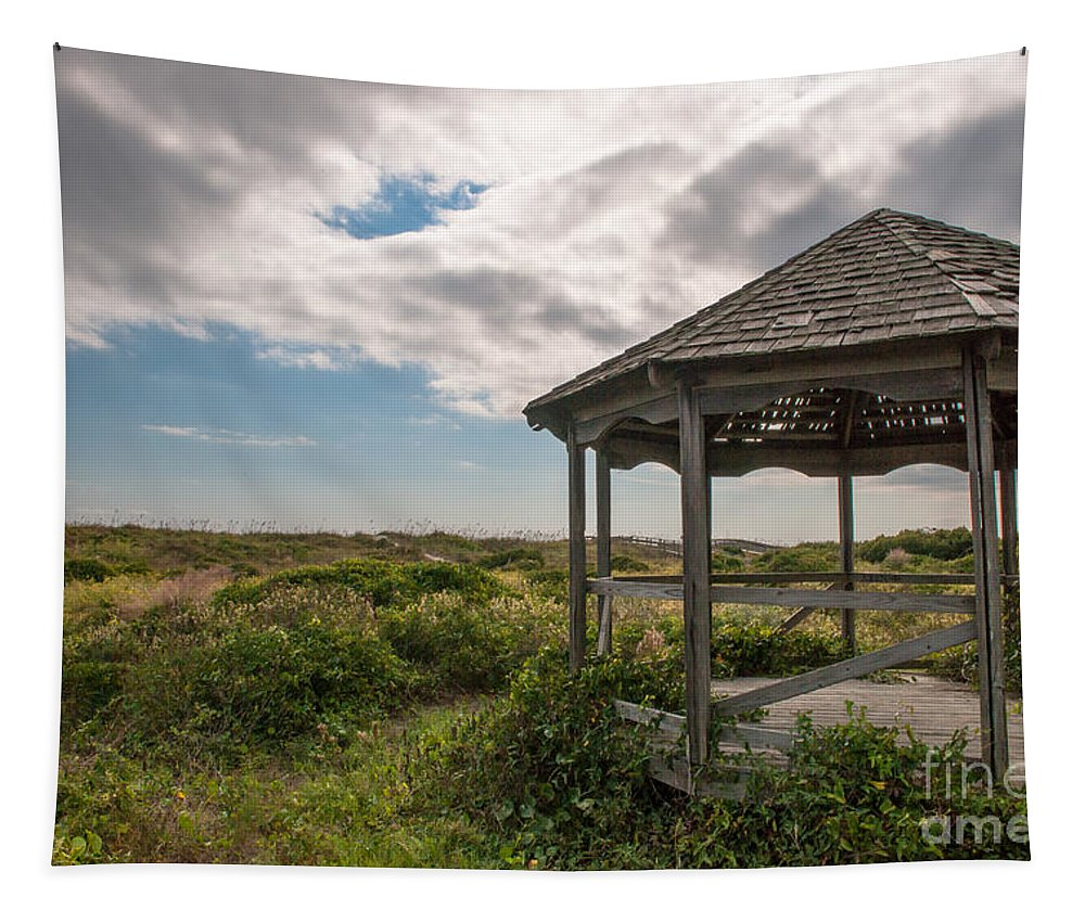 Gazebo Tapestry featuring the photograph Gazebo At The Beach by Dale Powell
